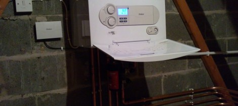 Energy efficient boiler installed by Aqua Systems