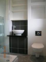 Wash bowl and wall hung WC pan